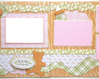 New Arrival Premade 2 Page 12x12 Scrapbook Layout