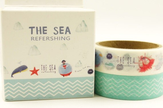 Riviera - Japanese Washi Paper Tape Box Set - 2 rolls - 5.5 yard (each roll)