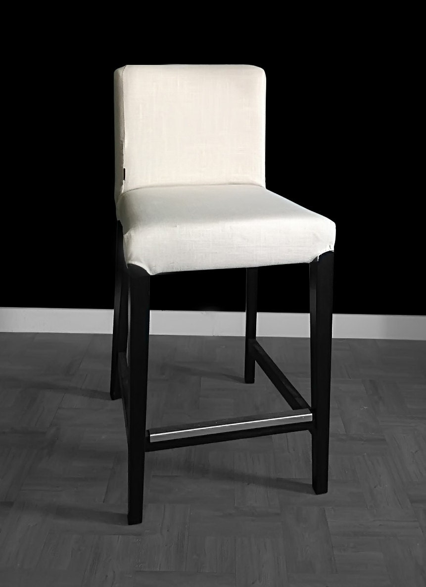 Pair Of Linen Ikea Henriksdal Bar Stool Chair Covers