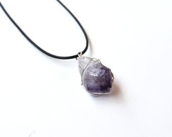 Amethyst Necklace, Amethyst Jewelry, Raw Amethyst, Rough Amethyst, Girlfriend Gifts, Christmas Gifts, Canadian Shop, Canadian Jewelry, Gems