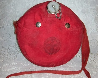 Vintage Authentic Boy Scouts of America Aluminum Canteen w/ Red Carry Case 8 USD