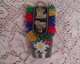 Vintage Swiss Cow Bell Hand Painted