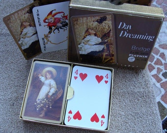 Pianik Bridge Playing Cards, Day Dreaming #2518, Made in Austria