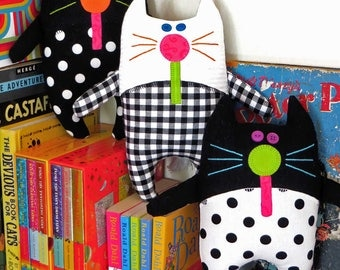 CATNIP KITTIES | pdf Soft Toy Pattern | Cat Pattern | Patterns | Kids | Cat Toys | Cats | Kids | Dolls | Cloth Dolls | Kids Cloth Dolls