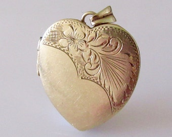 Large 9ct Gold Heart Picture Locket