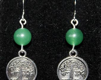 Tree of Life Charm Dangle Earrings