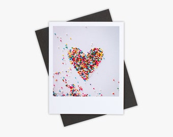 Valentines Day Card, Blank Greeting Card, Heart, Love Note, Simple Stationery, Paper Goods, Love Card, Valentine Stationery
