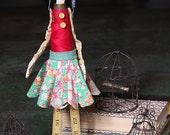 Penelope - Handmade Papier Mache Found Object Doll by Paula Joerling