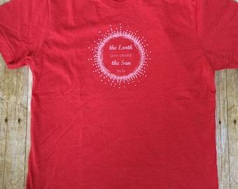 Sale, Montessori Kids, T-Shirt, Earth Goes Around the Sun, Birthday Song Shirt, Birthday Shirt