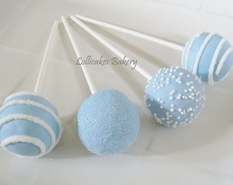 Boy Baby Shower Favors: Baby Shower Cake Pops Made to Order with High Quality Ingredients