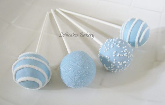Boy Baby Shower Favors: Baby Shower Cake Pops Made to Order