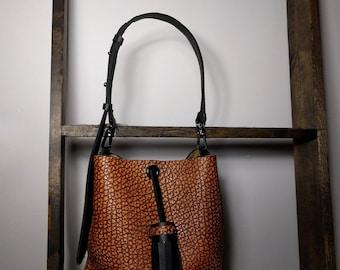 Adelaida Caramel Leather Handbag SALE!!!