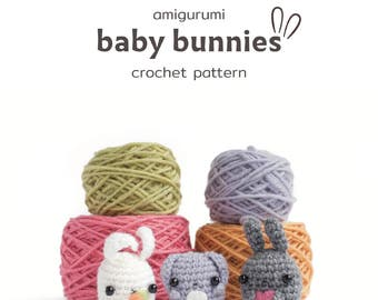 amigurumi bunny pattern - crochet animal pattern