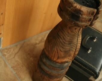 Wood Pedestal Candleholder Pillar, Wood Candle Holder, Tall Candle Pillar, Home Decor, Wedding Decor, Wooden Holders, Wood