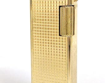 Vintage Pocket Lighter Cigarette Gold Tone NOS