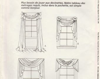 Window Swag & Valance Pattern McCalls 4621 Uncut