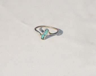 Simple Turquoise Vintage Ring - Size 8