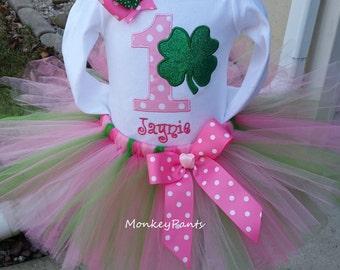 St Patrick's Day Baby Tutu Outfit - St Patrick's Day 1st Birthday - St Patrick's Day Bodysuit - Girls St Patricks Day Birthday - Photo Prop