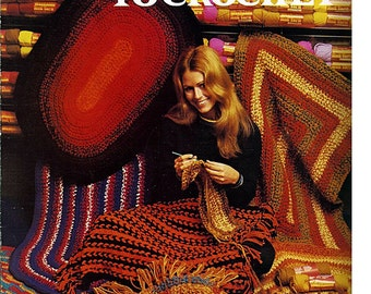 Rugs to Crochet Pattern Book Columbia Minerva Leaflet 2537