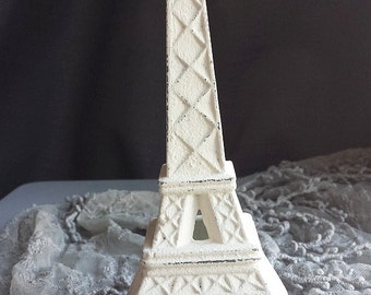 Eiffel Tower Cast Iron Creamy White Romantic Paris Inspired Romantic Shabby Chic Cottage French Farmhouse Style Decor PICK YOUR COLOR