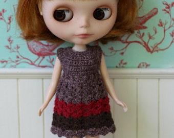 Blythe Dress -  New 2017 - OOAK crochet dress for Blythe