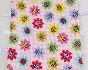 Baby Girl Tag Blanket - Girl Baby Gift - ladybug