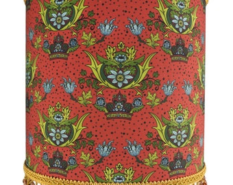 William Morris Inspired Modern Vintage Beaded Lamp Shade or Ceiling Lampshade - Unique Home Decor