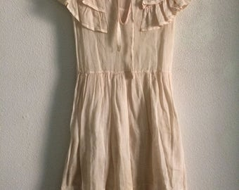 Vintage Creme Children's Dress