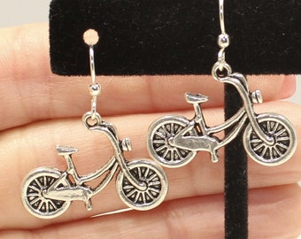 Bike Earrings - Bicycle Charm Earrings - Cyclist Gift - Bicycle Gifts - Bikerider Jewelry - Cyclist Jewelry - Bike Jewelry - Bike Charms