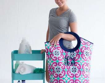 Exceptional Monogrammed Laundry Hamper, Mega Tote, Monogram Laundry Bag, Dorm Room  Necessity, Laundry Part 11