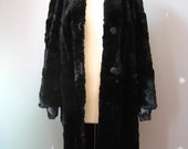 Black Fur Coat  / Vtg40s ...