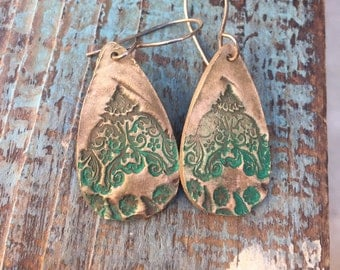 Bronze henna earrings
