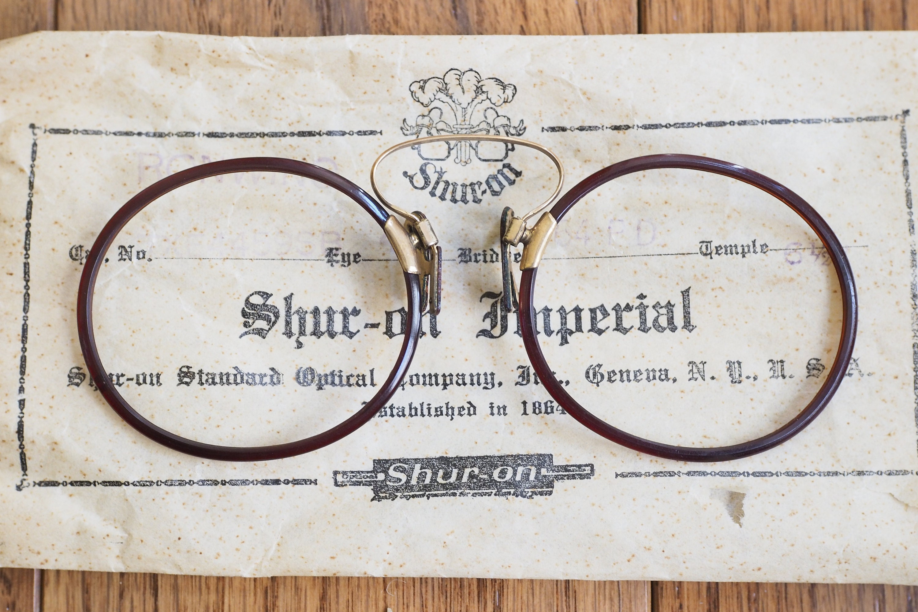c506e1d3161 Vintage Early 1900 s Pince-Nez Brand New Old Stock With Packing Slip Made  In USA