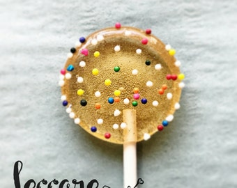 12 Sprinkle Lollipops // Happy Birthday // Party Favor // Spring Wedding // Summer Treat // Fall Wedding Favor