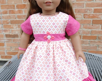 """18"""" Doll Clothes Valentines Day Dress Fits American Girl Gabriela, Lea, Grace"""