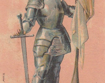 Joan Of Arc - Duroyon & Ramette - Antique Victorian Trade Card