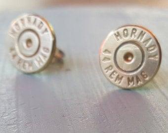44 caliber stud earrings