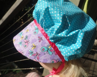 CLEARANCE! Approx Size 9-12 Months Baby Bonnet, Baby Easter Bonnet, Baby Sun Bonnet, Baby Pioneer Bonnet, Baby Prairie Bonnet, Baby Sun hat