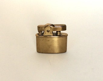 Small Vintage Brass Lighter, Made in Japan, Old