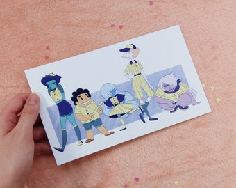 Team Human, A5 Print, Steven Universe, Baseball, Hit The Diamond