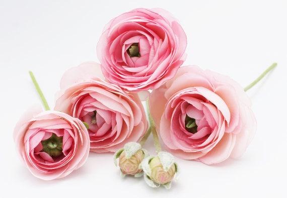 blue ranunculus blush pink ranunculus wedding bouquet millinery flowers