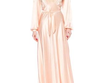 1930s Luscious Silk Negligee Size: 4