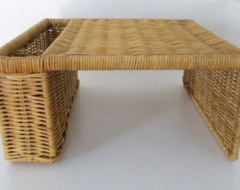 Vintage Wicker Bed/ Breakfast/Picnic Tray