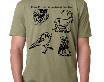 Beard Shirt, Beards and Epic Mustaches of the Animal Kingdom, Mustache tshirt