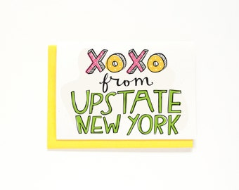 Upstate New York Greeting Card - Wish You Were Here Card - Long Distance Relationship - Miss You Card - Just Because Card - NY - Local Card
