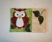 Four Quilted Owl Mug Rugs