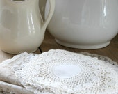 Assorted White Crochet and Lace Linens
