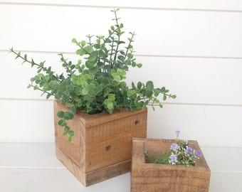 wood crate / wood planters