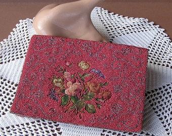 Vintage Beaded Clutch, Vintage Evening Purse, Beaded Bag, Evening Clutch, Evening Bag