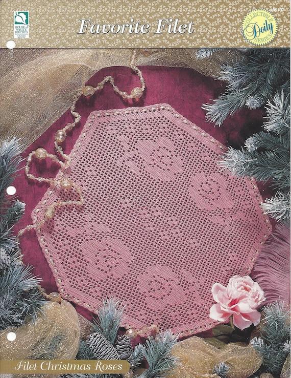 Filet Christmas Roses Crochet Doily Pattern Cotton Thread Home Decorators Catalog Best Ideas of Home Decor and Design [homedecoratorscatalog.us]